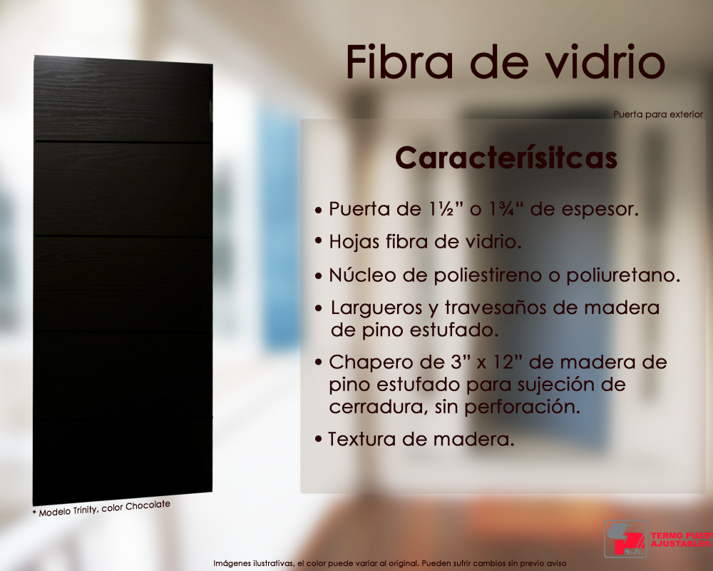 fibra de vidrio - trinity - color chocolate